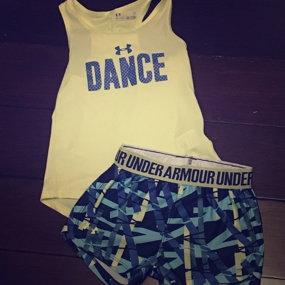 "fe7220fcc9899 Under Armour Toddler Girl ""DANCE"" Tank + Short"